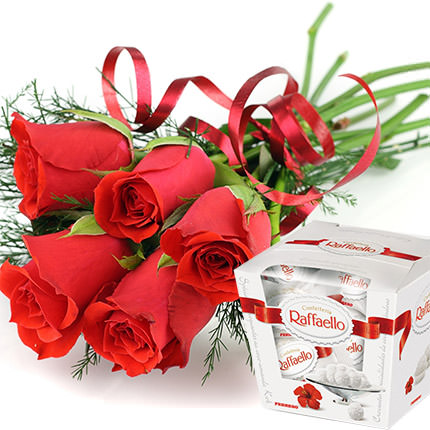 5 red roses  - buy in Ukraine