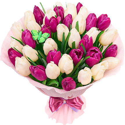 39 ніжних тюльпанів  - придбати в Україні
