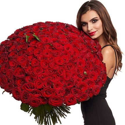 151 red roses  - buy in Ukraine