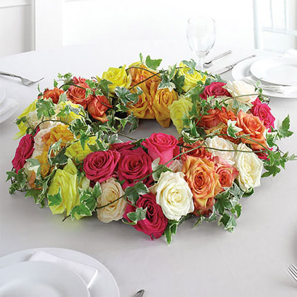 "Composition on the table ""Flower Wreath""  - buy in Ukraine"