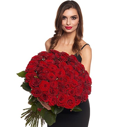51 red roses  - buy in Ukraine