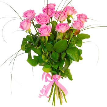 11 розовых роз  - купить в Украине