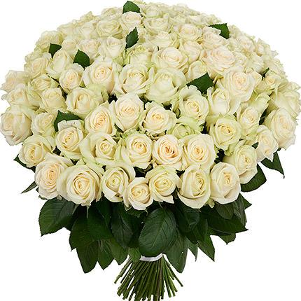 101 біла троянда  - придбати в Україні