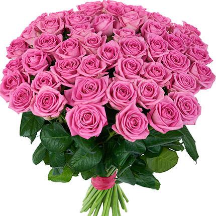 51 рожева троянда  - придбати в Україні