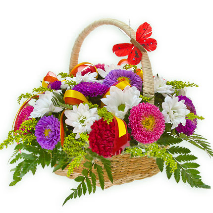 "Basket ""Mix of asters""  - buy in Ukraine"
