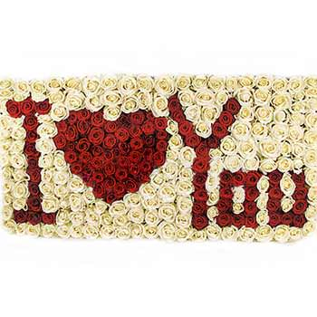"Inscription of flowers ""I love you""  - buy in Ukraine"