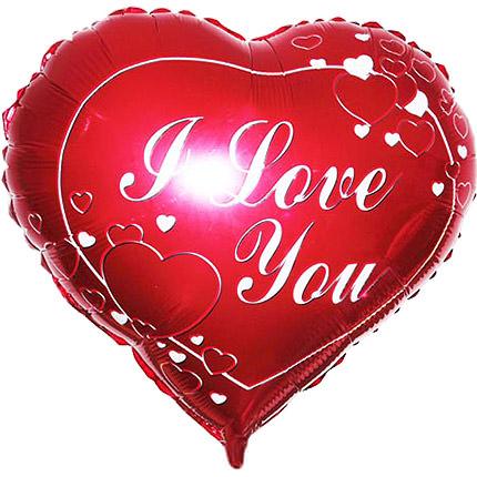 "Foil balloon ""I love you""  - buy in Ukraine"