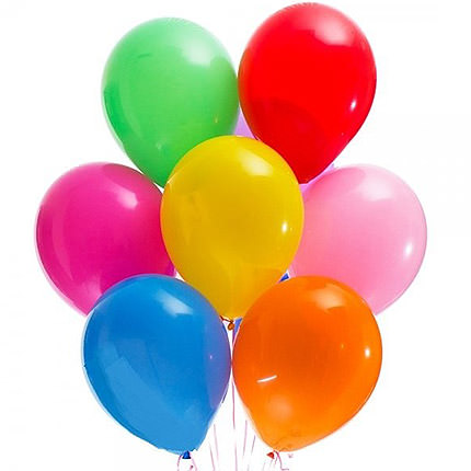 7 різнокольорових гелієвих кульок  - придбати в Україні