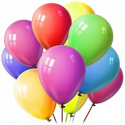 11 multicolored balloons  - buy in Ukraine