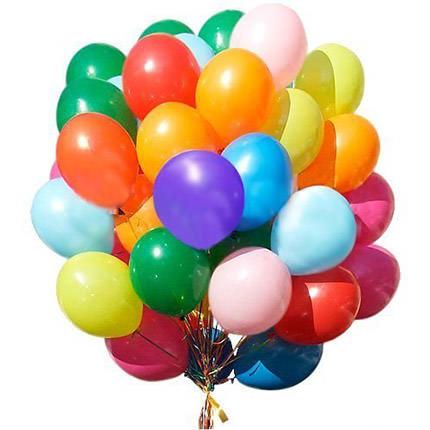 25 різнокольорових гелієвих кульок  - придбати в Україні