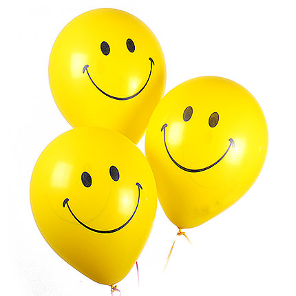 3 balloons (smiles)  - buy in Ukraine