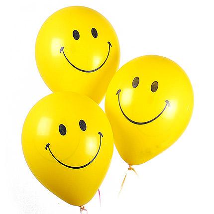 3 гелиевых шарика (смайлики)  - купить в Украине