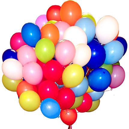 51 різнокольорова гелієва кулька  - придбати в Україні