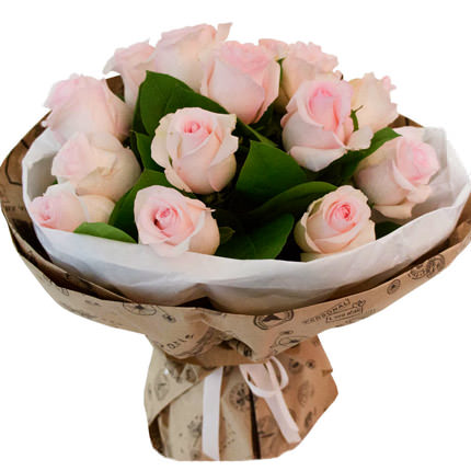Букет рожевих троянд  - придбати в Україні