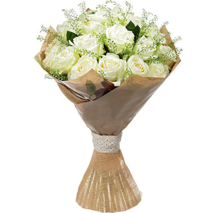 Bouquet of white roses  - buy in Ukraine