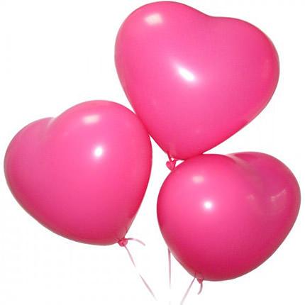 3 гелиевых шарика (розовые сердца)  - купить в Украине