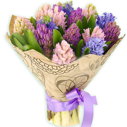 15 multicolored hyacinths  - buy in Ukraine