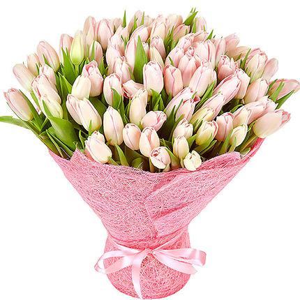 101 pink tulips  - buy in Ukraine