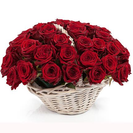 "Basket ""51 scarlet roses""  - buy in Ukraine"
