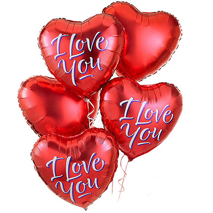 "5 foil balloons ""I love you""  - buy in Ukraine"