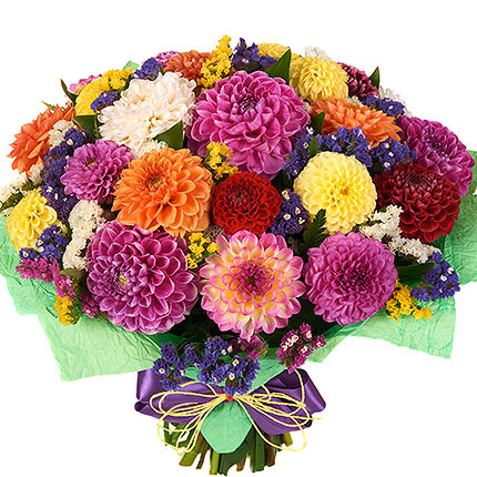 25 multicolored dahlias  - buy in Ukraine