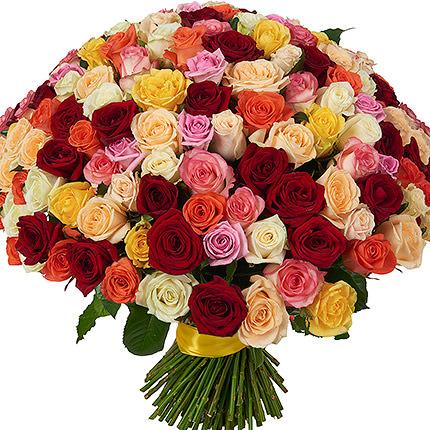 151 разноцветная роза  - купить в Украине