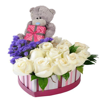 "Flowers in a box ""To my cutie""  - buy in Ukraine"