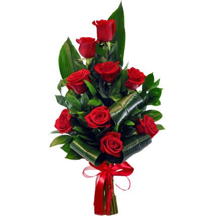 9 червоних троянд  - придбати в Україні
