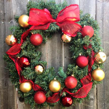 "Christmas Wreath ""Life is full of miracles!""  - buy in Ukraine"