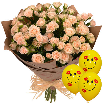 "Bouquet ""Loveliness"" with balloons  - buy in Ukraine"
