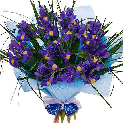 11 фиолетовых ирисов  - купить в Украине