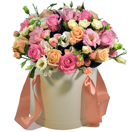 "Flowers in box ""For the best girlfriend""  - buy in Ukraine"
