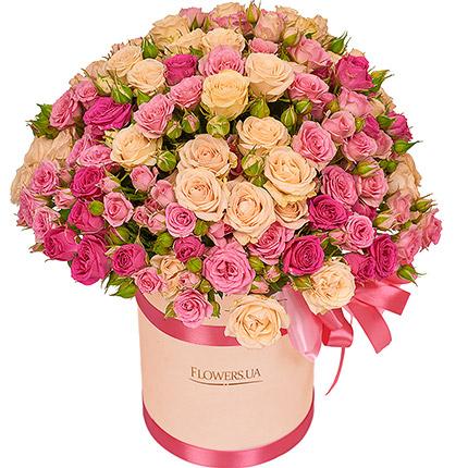 """Цветы в коробке """"Для моей милой!""""  - купить в Украине"""