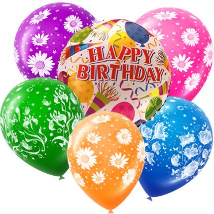 Mix Of Helium Balloons Happy Birthday