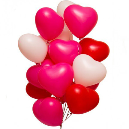15 helium balloons (heart shape)  - buy in Ukraine