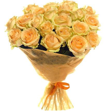 21 cream roses  - buy in Ukraine
