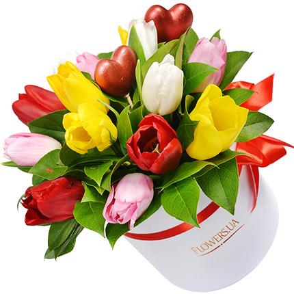 """Цветы в коробке """"Влюбленные сердца""""  - купить в Украине"""