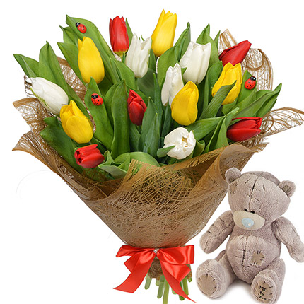 """""""""""For 8th of March!"""" (with teddy bear)  - buy in Ukraine"""