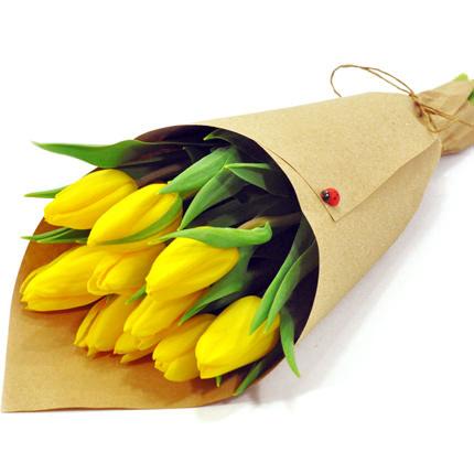 9 жовтих тюльпанів  - придбати в Україні