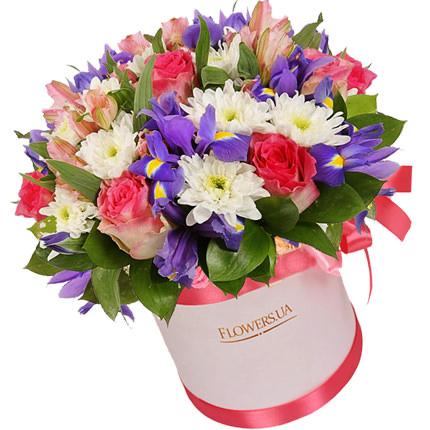 """Цветы в коробке """"Нежный микс""""  - купить в Украине"""