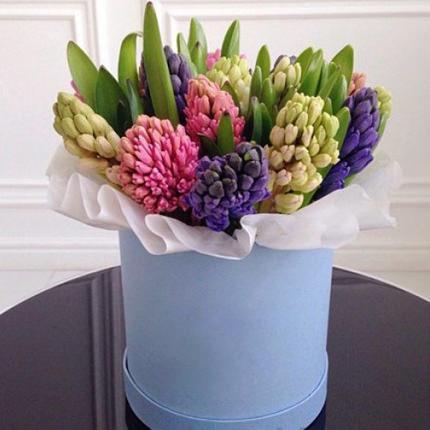 """Цветы в коробке """"15 нежных гиацинтов""""  - купить в Украине"""