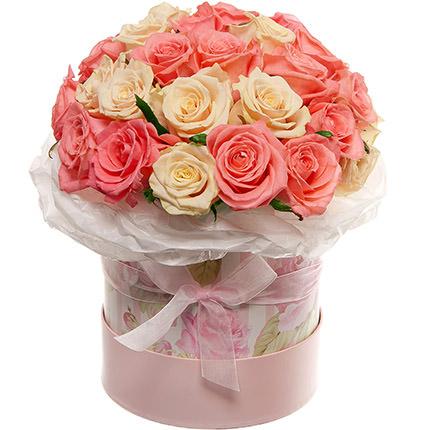 """Цветы в коробке """"Нежное чувство!""""  - купить в Украине"""