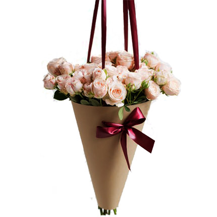 "Bouquet in the cone-package ""My happiness""  - buy in Ukraine"