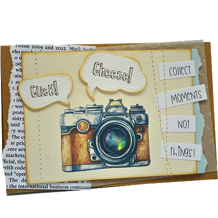 """Postcard """"Collect moments not things""""  - buy in Ukraine"""