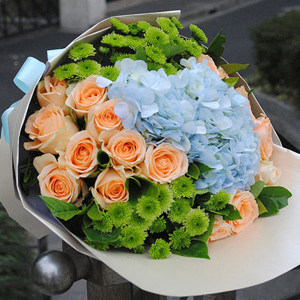 "Romantic bouquet ""Warm meeting""  - buy in Ukraine"