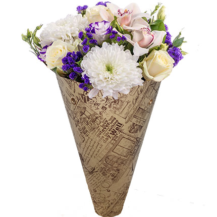 "Bouquet in the cone-package ""Tenderness""  - buy in Ukraine"