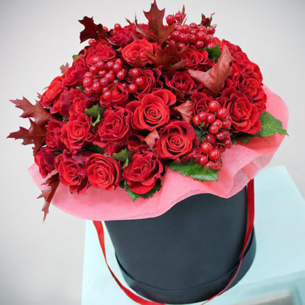 "Flowers in a box ""Love flame""  - buy in Ukraine"