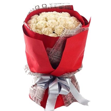 19 белых роз  - купить в Украине