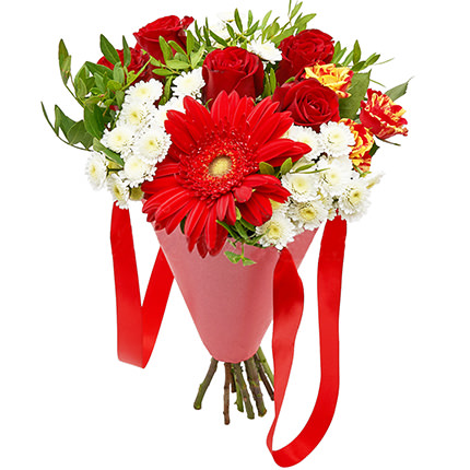 """Bouquet in the cone-package """"Holiday""""  - buy in Ukraine"""