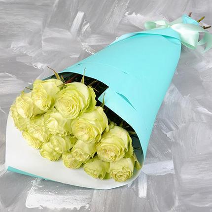 Букет из 15 белых роз  - купить в Украине